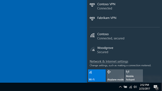 Connected to a VPN